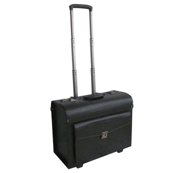 Amerileather 18-inch Leatherette Carry-on Rolling Pilot/ Catalog Case 16210549