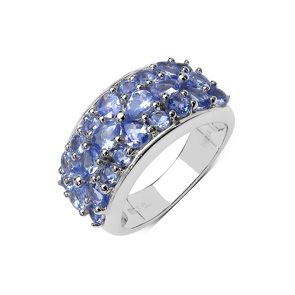 Malaika Sterling Silver 2 1/2ct Tanzanite Ring