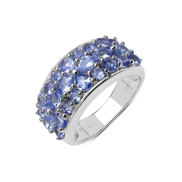 Malaika Sterling Silver 2 1/2ct Tanzanite Ring