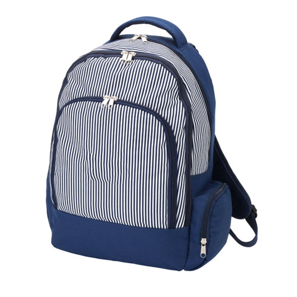Navy Pinstripe Backpack