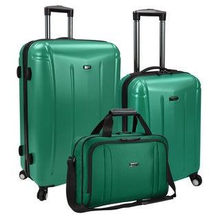 U.S Traveler by Traveler's Choice Hytop 3-piece Spinner Suitcase and Boarding Bag Luggage Set