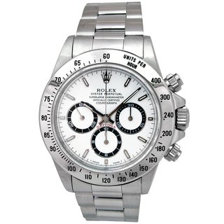 Pre-Owned Rolex Men's Oyster Perpetual Chronometer Daytona White Stainless Steel Watch