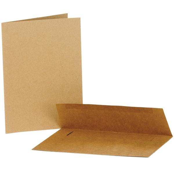 Value Pack Cards & Envelopes 5inX7in 50/PkgKraft