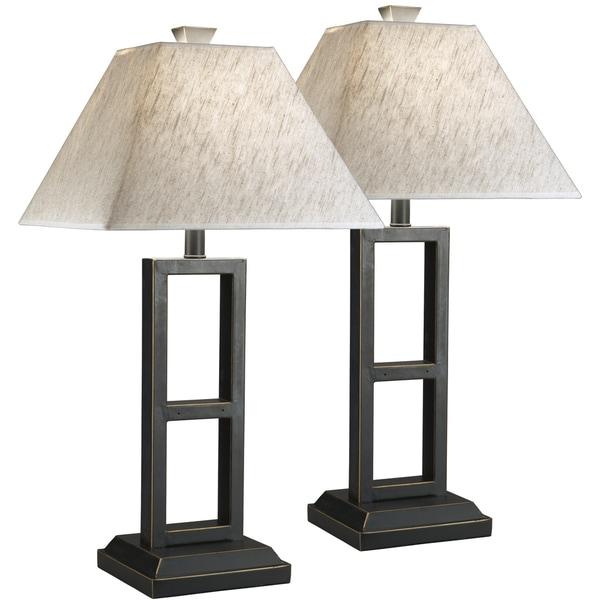 Deidra Black Metal Lamp (Set of 2)