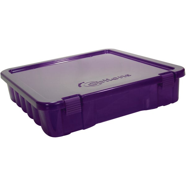 Creative Options Project Box14inX14inX3in Purple Transparent