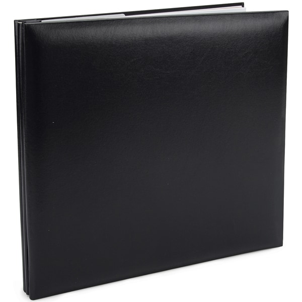 Leatherette Post Bound Album 12inX12inBlack
