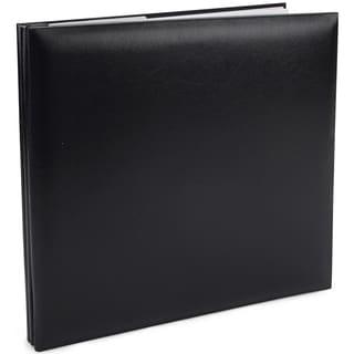Pioneer Leatherette Post Bound Album 12inX12inBlack
