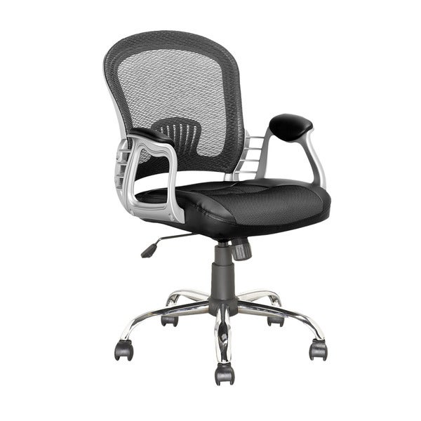 CorLiving LOF-208-O Black Leatherette/ Mesh Executive Office Chair 16211158