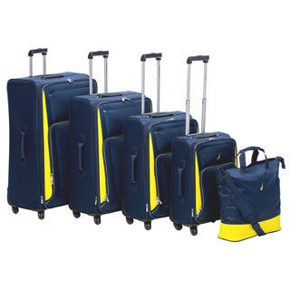 Nautica Weatherboard 5-piece Expandable Spinner Luggage Set
