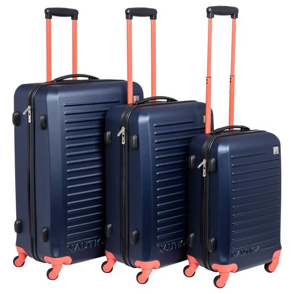 Nautica Tide Beach 3-piece Hardside Spinner Luggage Set 16433479