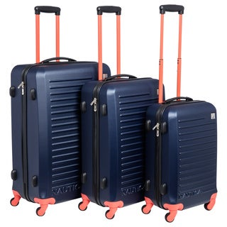 Nautica Tide Beach 3-piece Hardside Spinner Luggage Set