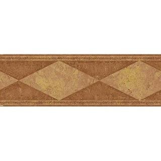 Rust Diamond Wallpaper Border