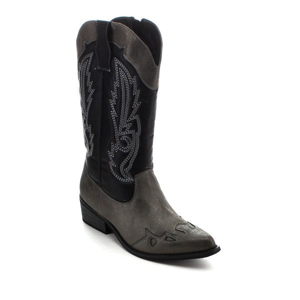Jacobies Zac-22 Women's Stylish Western Cowboy Mid-calf Boots