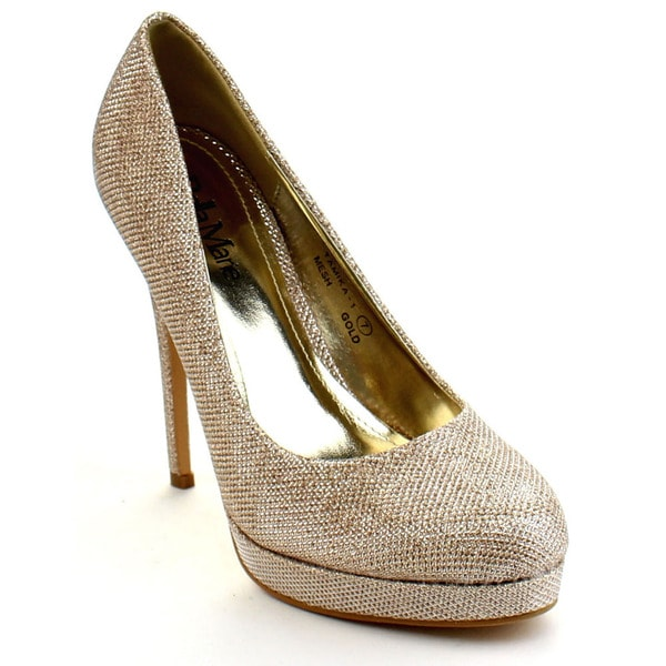 Bellamarie Tamika-1 Women's Glittery High Platform Pump Party Shoes