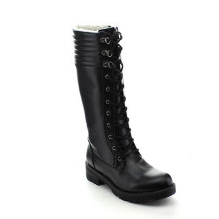 Jacobies Brook-8 Women's Stylish Chunky Heel Lace-up Combat Mid-calf Snow Boots
