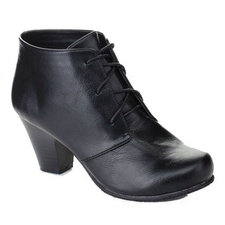 Bonnnibel Dara-2 Women's Front Lace-up Chunky Heel Trendy Ankle Booties