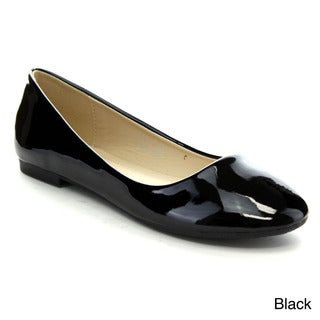 Bellamarie Stacy-11 Women's Round-toe Sleek Slip-on Ballet Flats