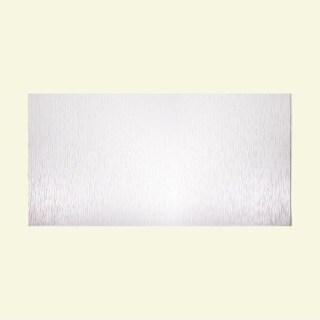 Fasade Vertical Ripple Gloss White 4-foot x 8-foot Wall Panel