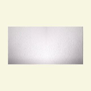 Fasade Vertical Ripple Matte White 4-foot x 8-foot Wall Panel