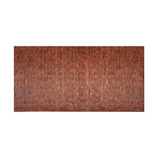 Fasade Vertical Ripple Moonstone Copper 4-foot x 8-foot Wall Panel