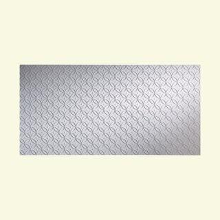 Fasade Ripple Vertical Gloss White 4-foot x 8-foot Wall Panel
