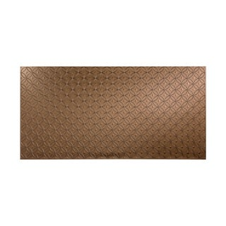 Fasade Ripple Vertical Argent Bronze 4-foot x 8-foot Wall Panel