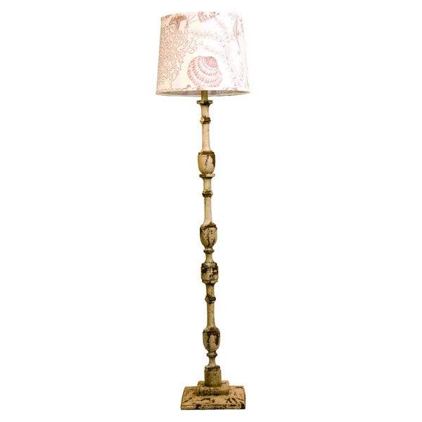 Harlan Weathered Cream 58-inch Floor Lamp