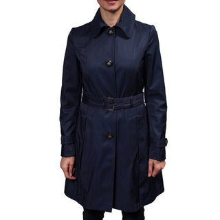 Laundry Women's Single Breasted Belted Trench Coat