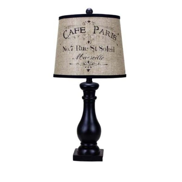 Lehigh Black Paris 24-inch Table Lamp