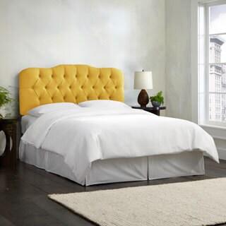 Skyline Furniture Linen Grey Tufted Headboard