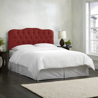 Skyline Furniture Linen Antique Red Tufted Headboard