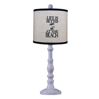 Somette Townsend White Lodge 21-inch Table Lamp