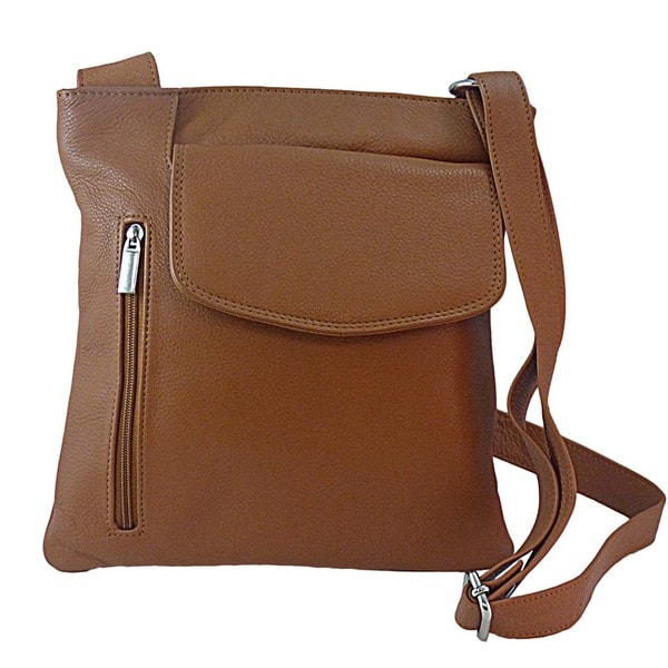 Paul & Taylor Leather Bucket Crossbody Handbag