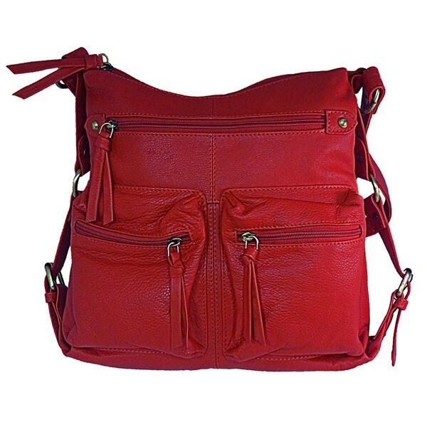 Paul & Taylor Leather Safari Shoulder Bag