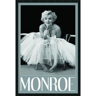 Milton H. Greene 'Marilyn Monroe - Ballerina' Framed Art Print with Gel Coated Finish 25 x 37-inch