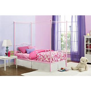 DHP Pink Canopy Twin Metal Bed