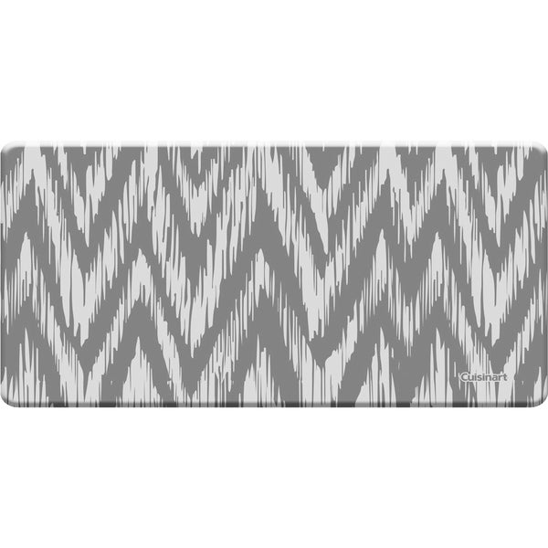 Cuisinart Anti-fatigue Chevron Ikat Grey Kitchen Mat (20 X