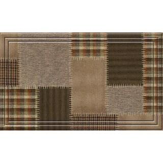Naturelles Tweed Patchwork Brown Door Mat (18 x 30)