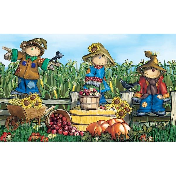 Polytop Scarecrows Multi Door Mat (18 x 30)