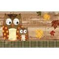 Polytop Weathered Woodland Owls Multi Door Mat (18 x 30)