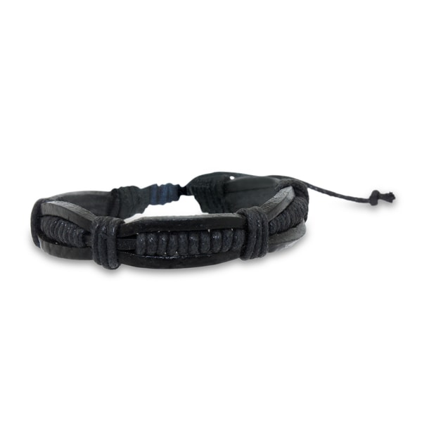 Gioelli Black Leather Wrap Bracelet