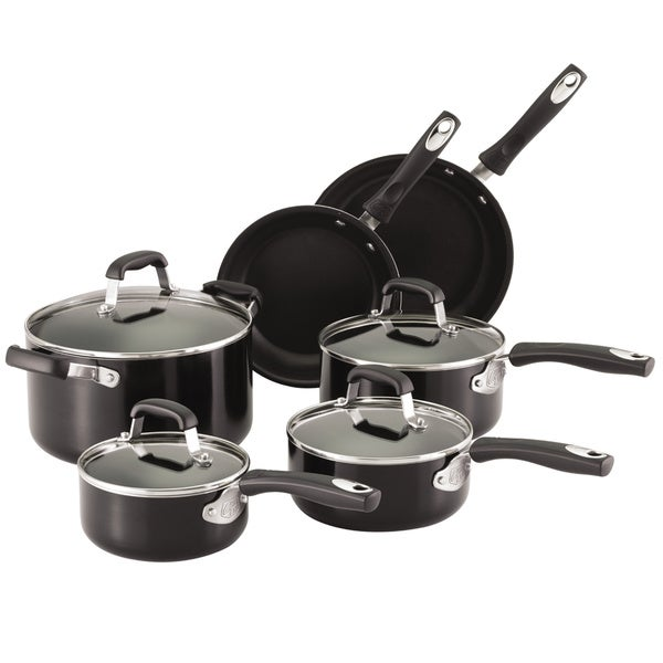 Guy Fieri Nonstick 10pc Cookware Set Black