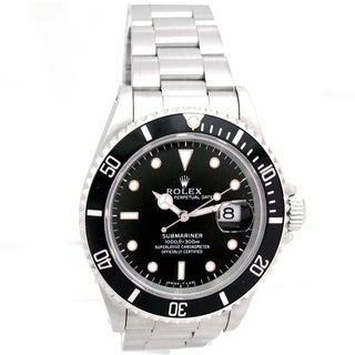 Pre-Owned Rolex Men's Submariner Black Dial Watch
