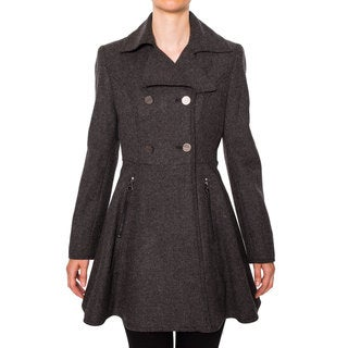 Laundry Women's Double Breasted Button Front Wool Coat