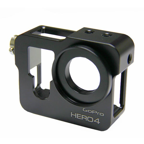Black CNC Aluminium Metal Skeleton Rugged Frame Protective Housing for GoPro HERO4
