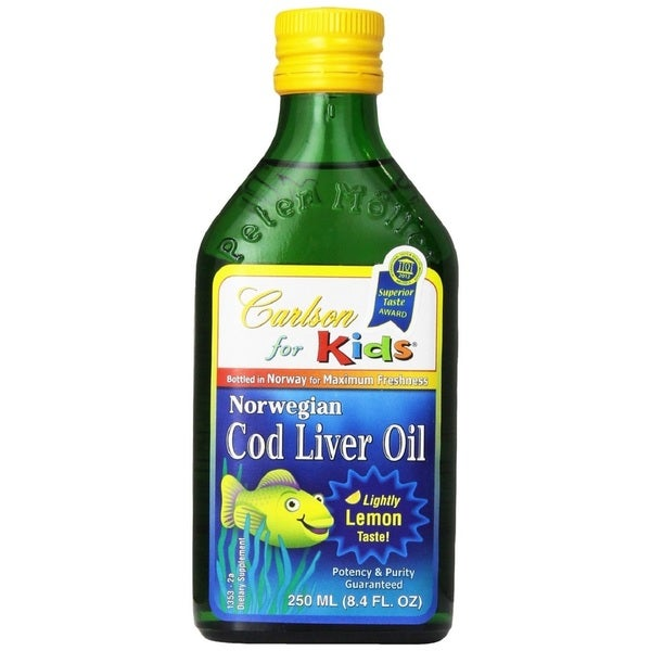 Carlson 8.4-ounce Norwegian Cod Liver Oil for Kids Lemon