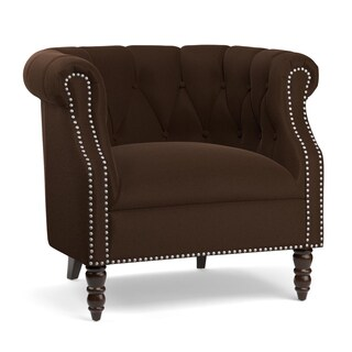 Portfolio Chesterfield Brown Velvet Arm Chair