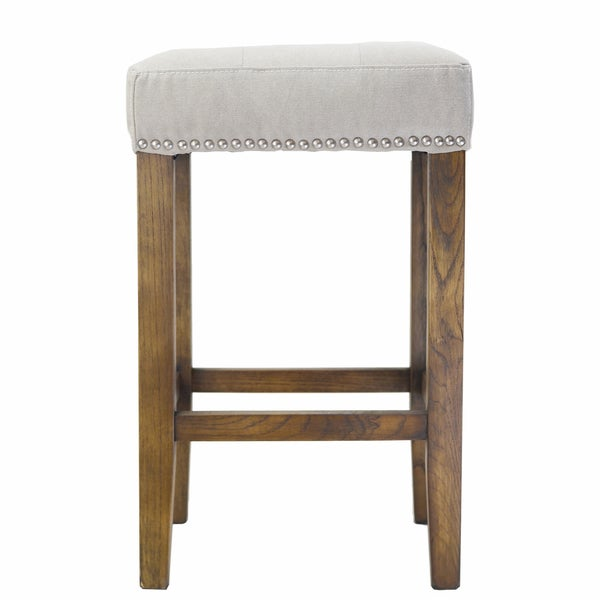 Ash Counter Stool With Silver Nailheads 17626830