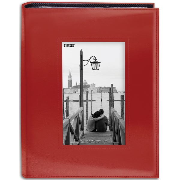 Sewn Frame Photo Album 7inX9in 200 PocketsRed