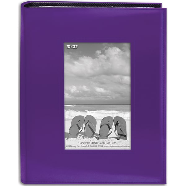 Sewn Frame Photo Album 7inX9in 200 PocketsBright Purple
